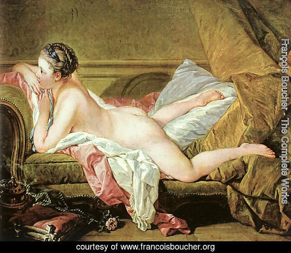 Nude on a Sofa (or Reclining Girl)