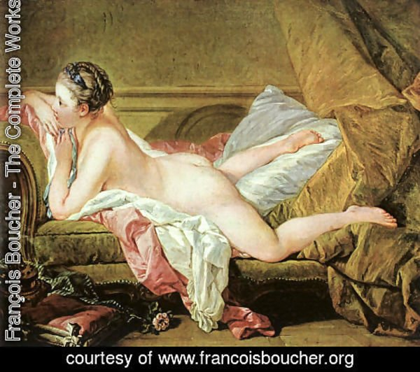 François Boucher - Nude on a Sofa (or Reclining Girl)
