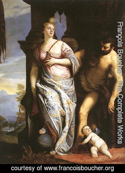 Allegory of Wisdom and Strength, The Choice of Hercules or Hercules and Omphale (original by Paolo Veronese)