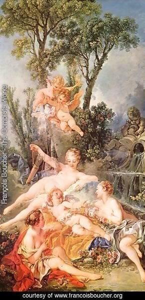 François Boucher - Amor as a prisoner