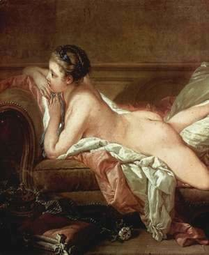 François Boucher - Blond Odalisque (L'Odalisque Blonde), detail