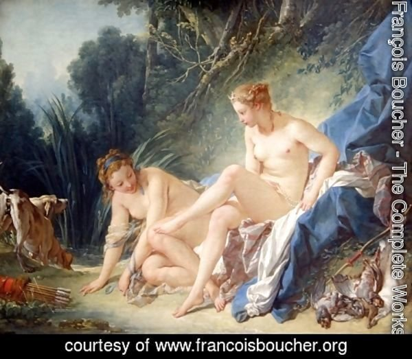 François Boucher - Diana Leaving her Bath