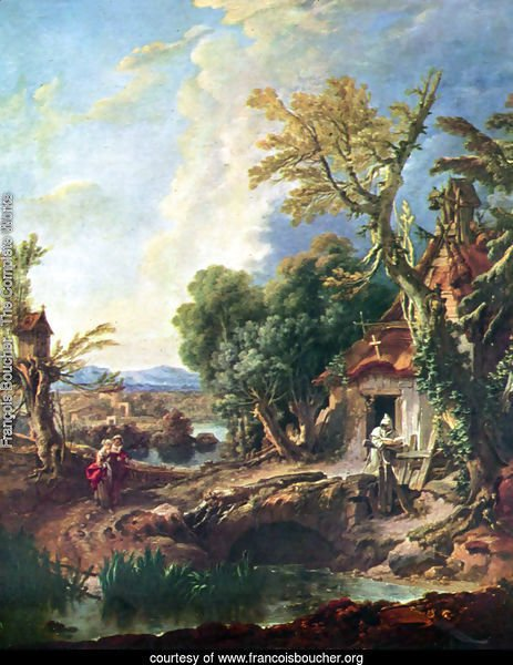 Landscape with his brother Lucas