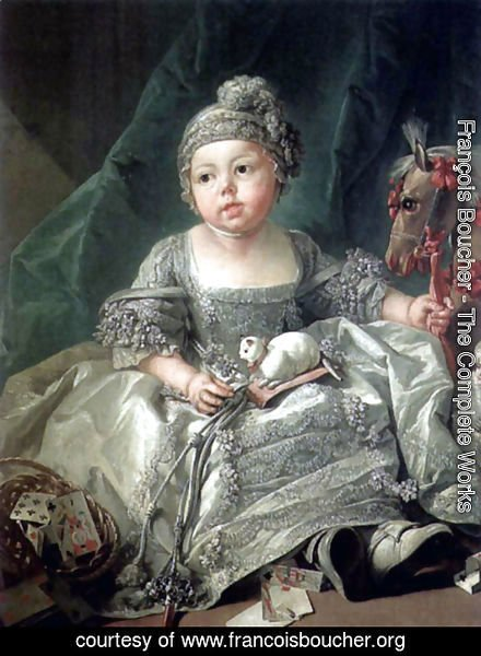 François Boucher - Portrait of Louis Philippe Joseph, Duke of Montpensier as a child