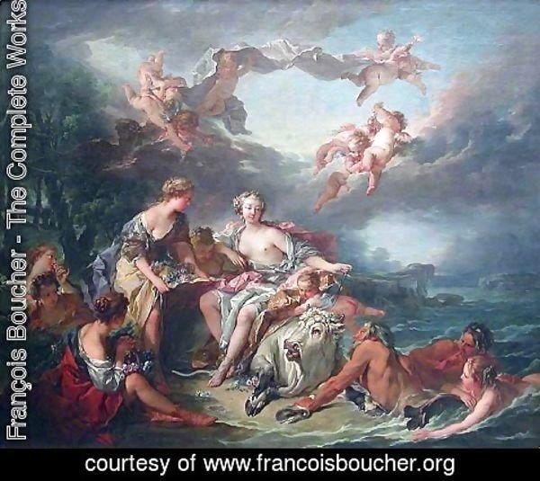 François Boucher - The Enlévement of Europe