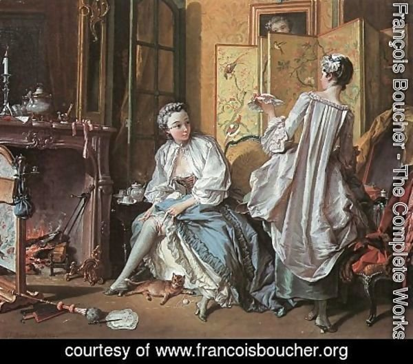 François Boucher - The Toilet