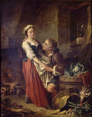 François Boucher - The beautiful cooker