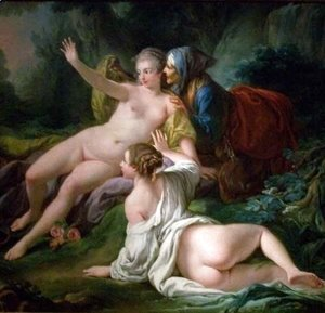 François Boucher - Vertumnus and Pomona