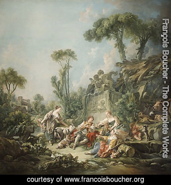 François Boucher - Shepherds Idyll 1768