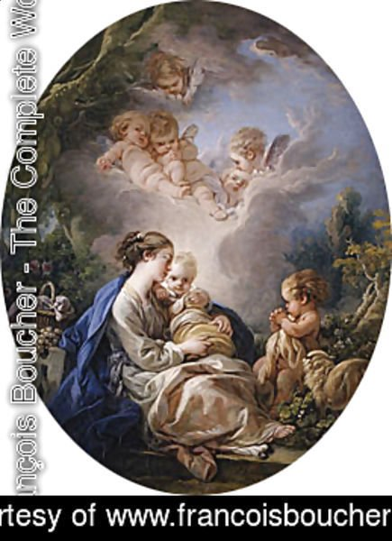 François Boucher - Virgin and Child with the Young Saint John the Baptist and Angels 1765