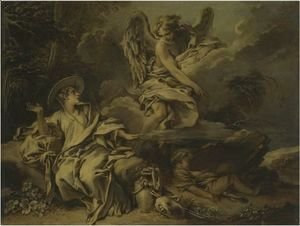 François Boucher - Hagar And Ishmael In The Desert