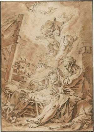 François Boucher - The Nativity