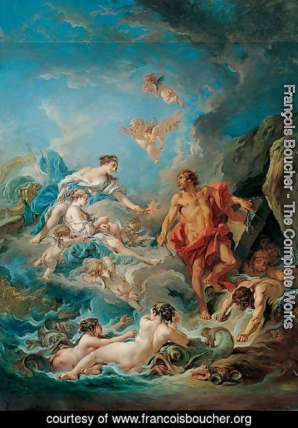 François Boucher - Juno Asking Aeolus to Release the Winds