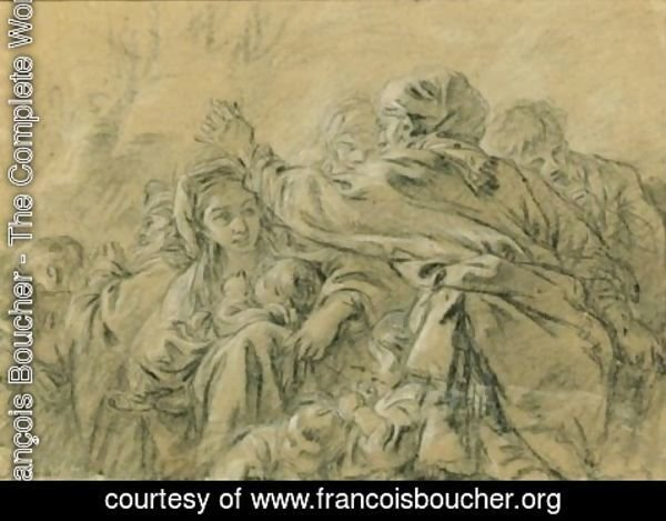 François Boucher - Figures On The March