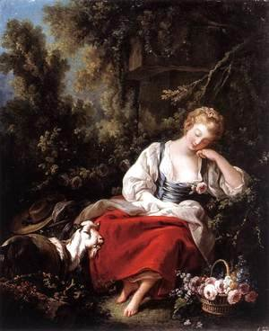 François Boucher - Dreaming Shepherdess