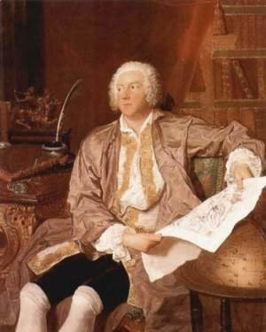 François Boucher - Portrait of Carl Gustaf Tessin