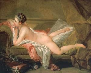 François Boucher - Portrait of Marie-Louis O'Murphy (Nude on a Sofa)