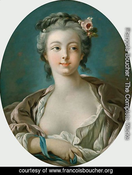 Young Woman with Flowers in Her Hair  wrongly called Portrait of Madame Boucher