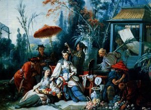 François Boucher - The Chinese Garden