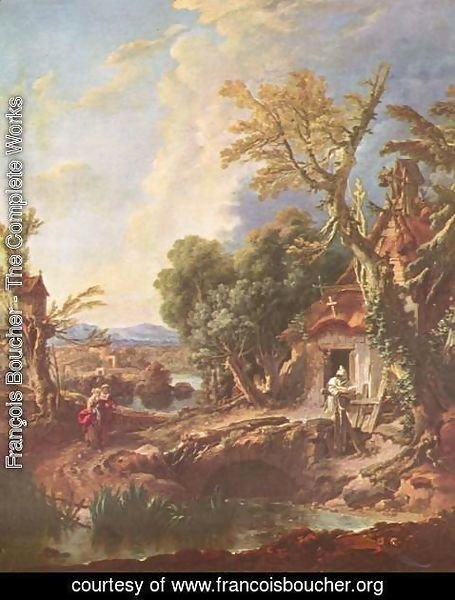 François Boucher - Landscape with the brother Lucas