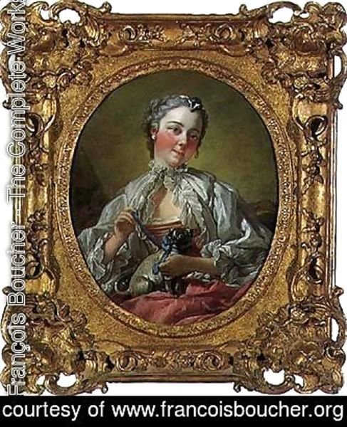 François Boucher - Portrait of Madame Boucher