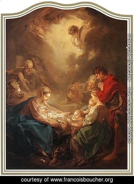 François Boucher - Adoration of the Shepherds 1750