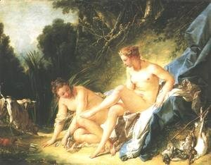 François Boucher - Diana Resting after her Bath 1742