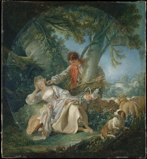 François Boucher - The Interrupted Sleep 1750