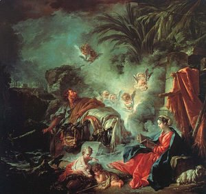 François Boucher - The Rest On The Flight Into Egypt