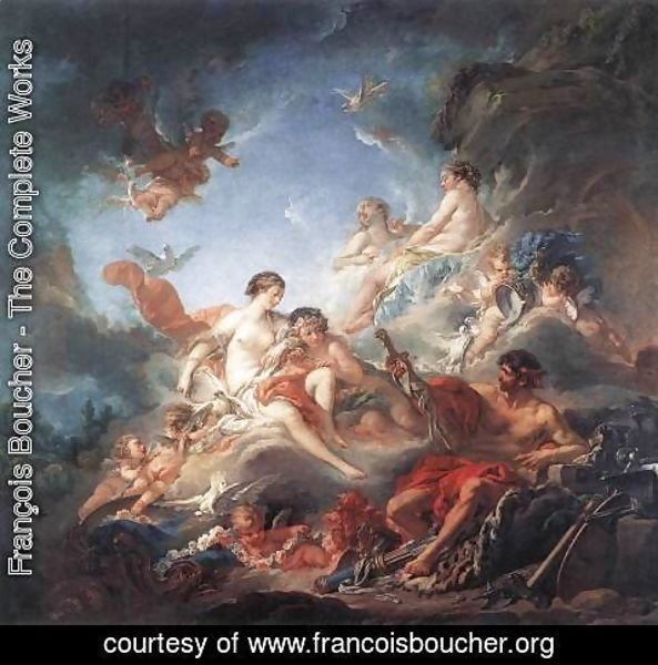 François Boucher - Vulcan Presenting Venus with Arms for Aeneas 1757