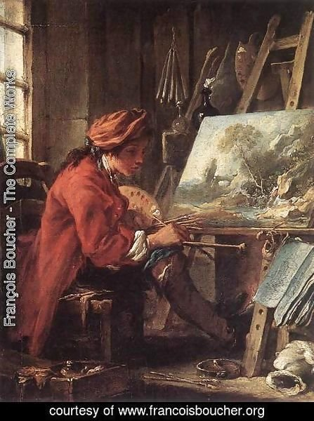 François Boucher - Painter in his Studio