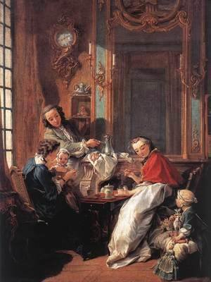 François Boucher - The Afternoon Meal 1739