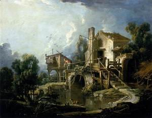 François Boucher - The Mill at Charenton 1750s