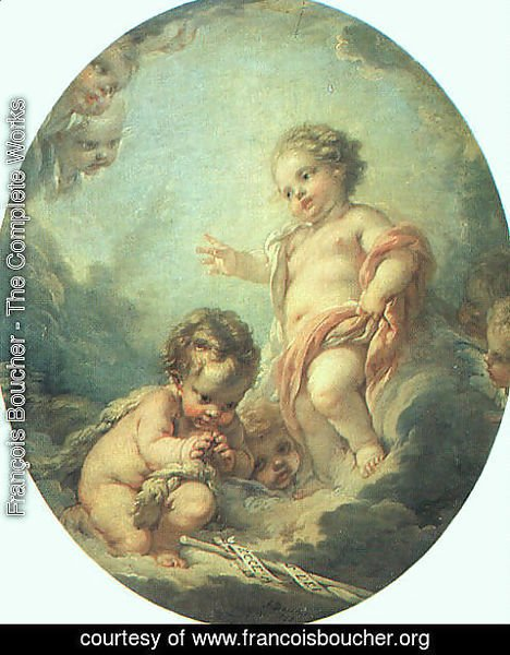 François Boucher - Christ and John the Baptist as Children 1758