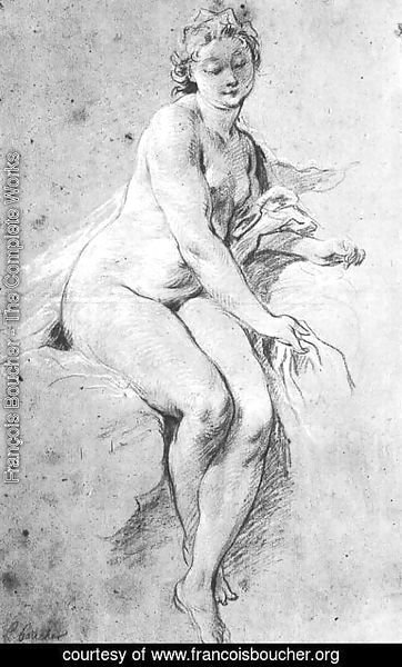 François Boucher - Seated Nude 1738